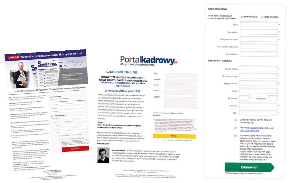 case study wiedza ipraktyka gotowe formularze landing page