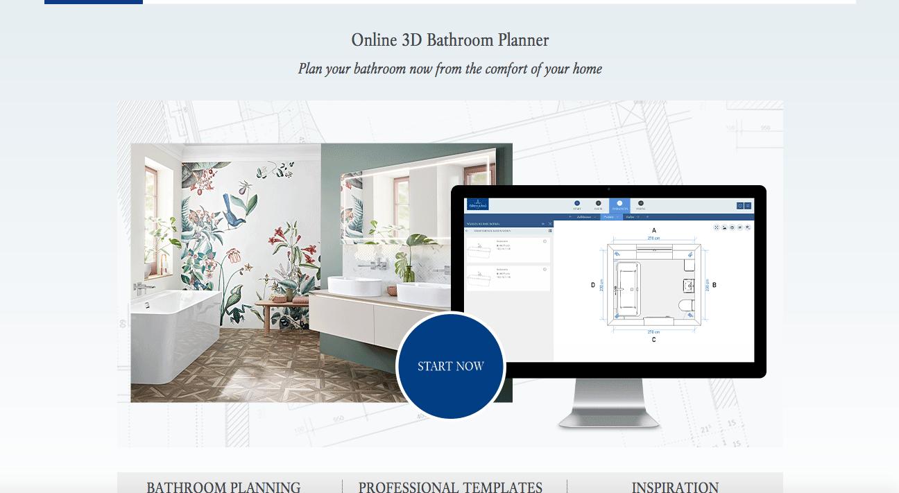 3-D bathroom planner example