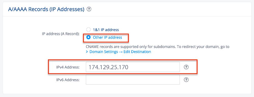 1&1 domain