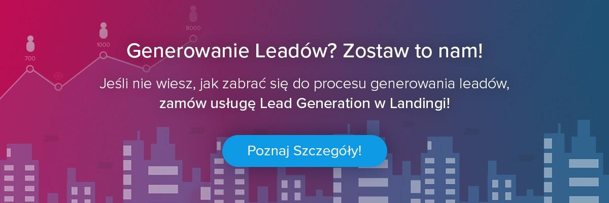 Banner reklamowy dla usługi Lead Generation