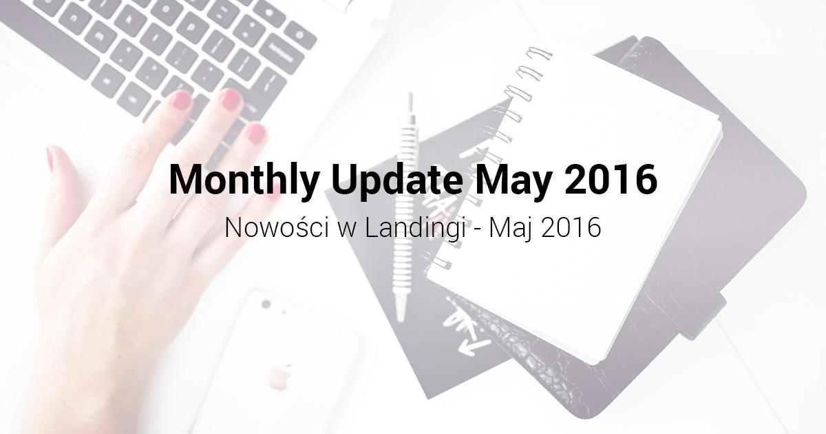 Nowości wLandingi Maj 2016