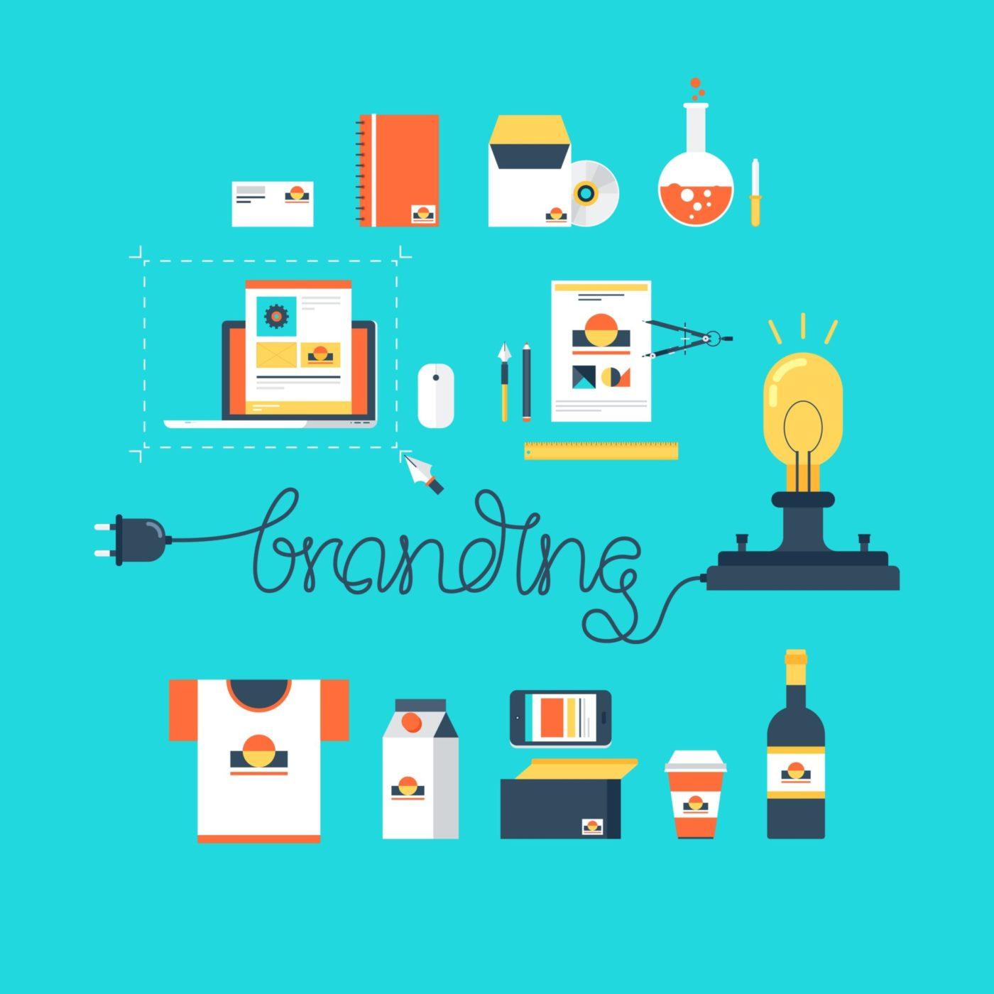 Przykłady brandingu w formie graficznej