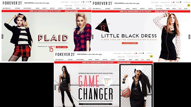 The art of landing page sale - forever21