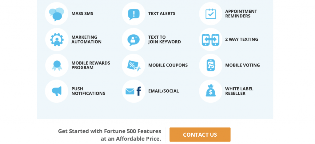 Fortune 500 SMS marketing offer