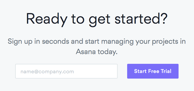 Asana Project Management Landing Page