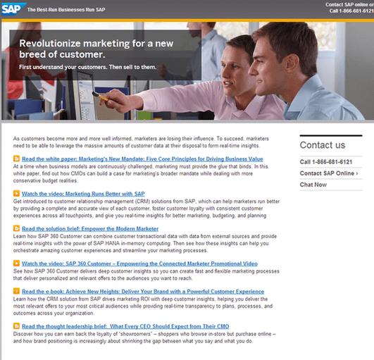 SAP Landing Page Stock