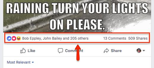 Facebook Likes High