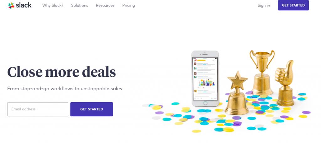 Slack Sales Landing Page