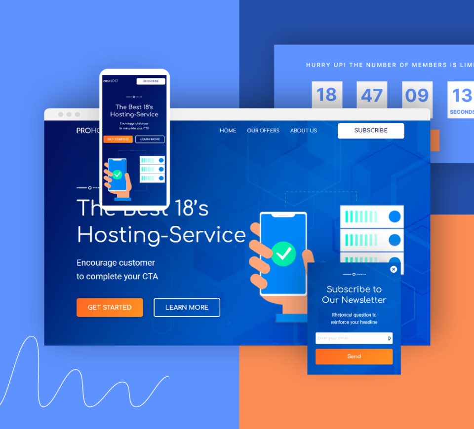 Check out our software landing pages