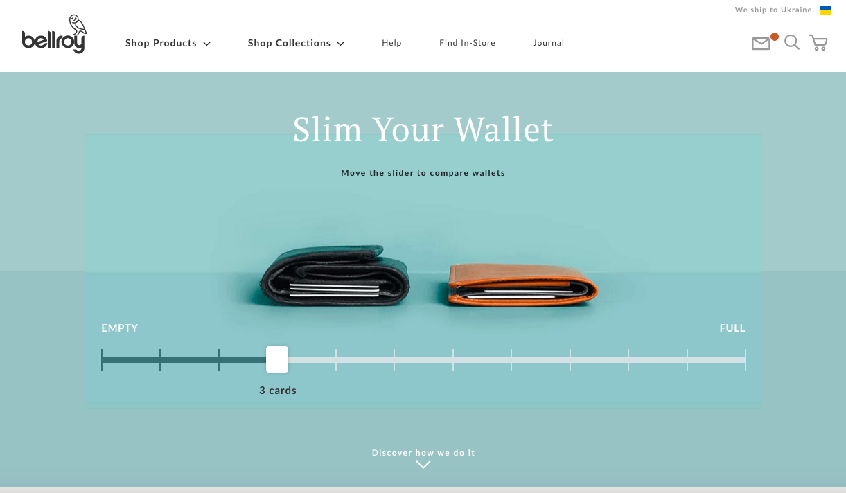 Interactive product page example