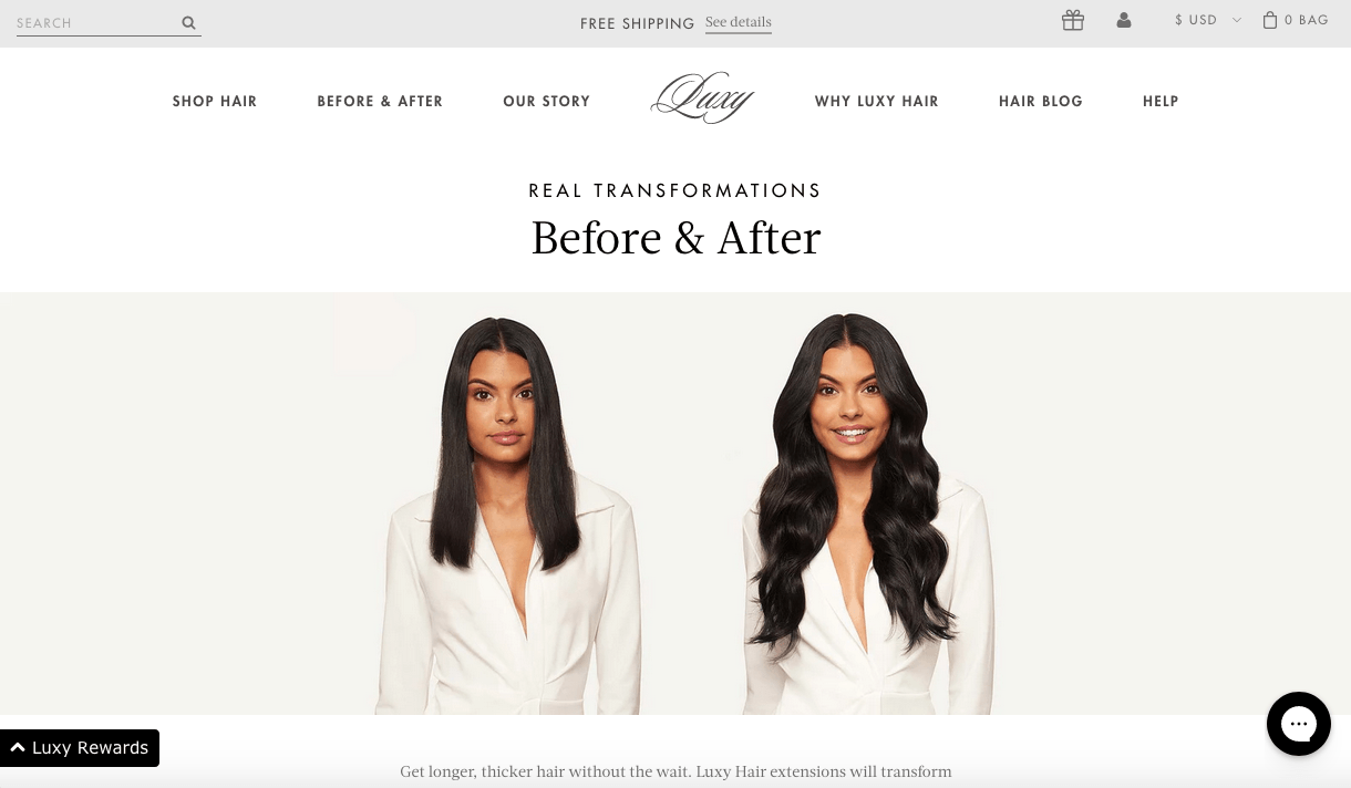 LuxuryHair befor and after
