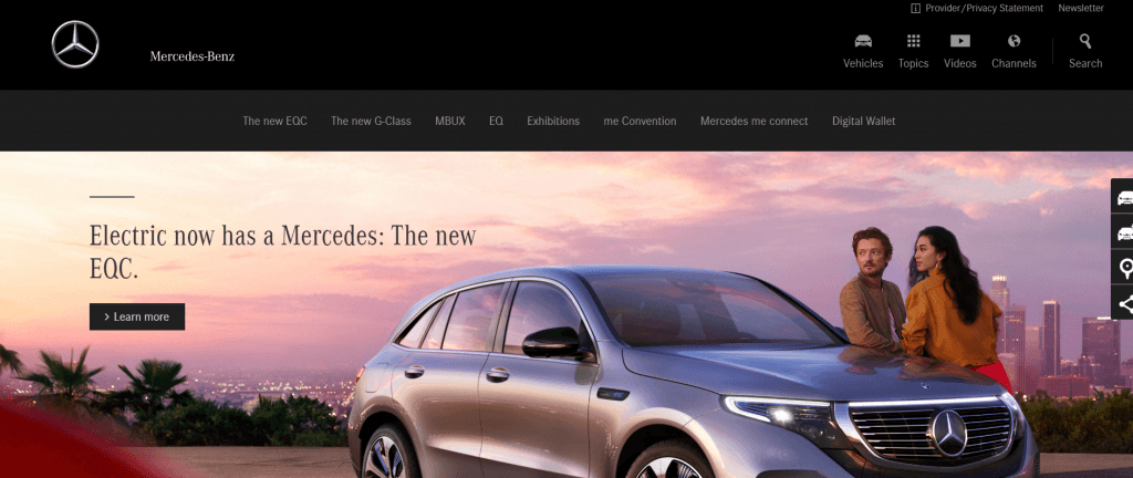 Mercedes Product Landing Page