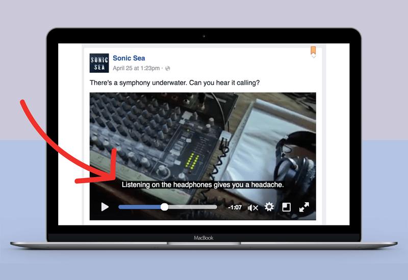 video landing page add subtitles