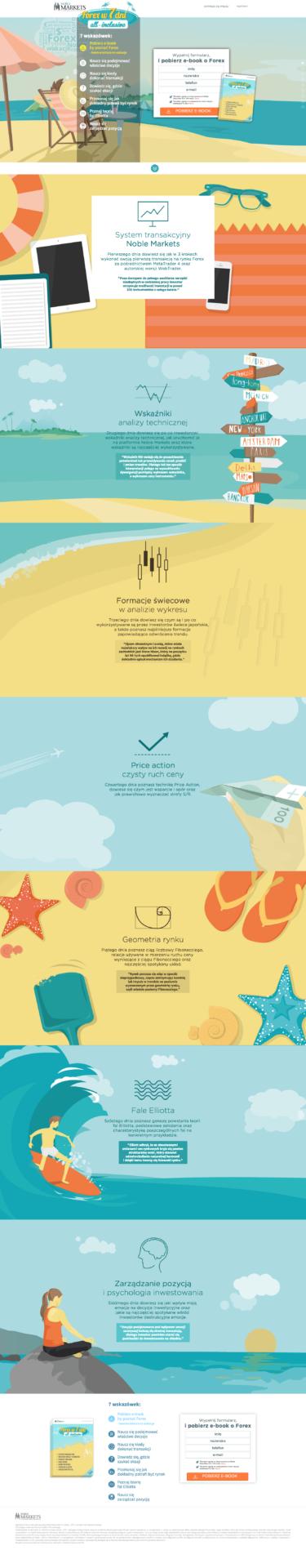 przykłady landing page