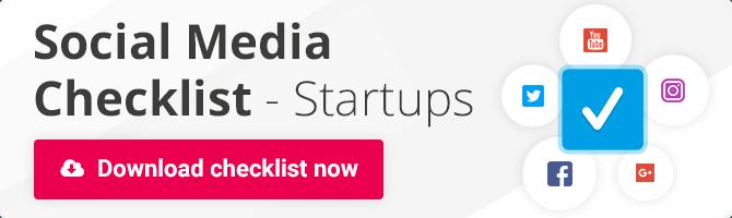social media checklist for startups