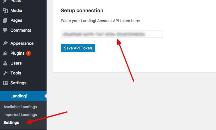 wordpress-token-setup-connection