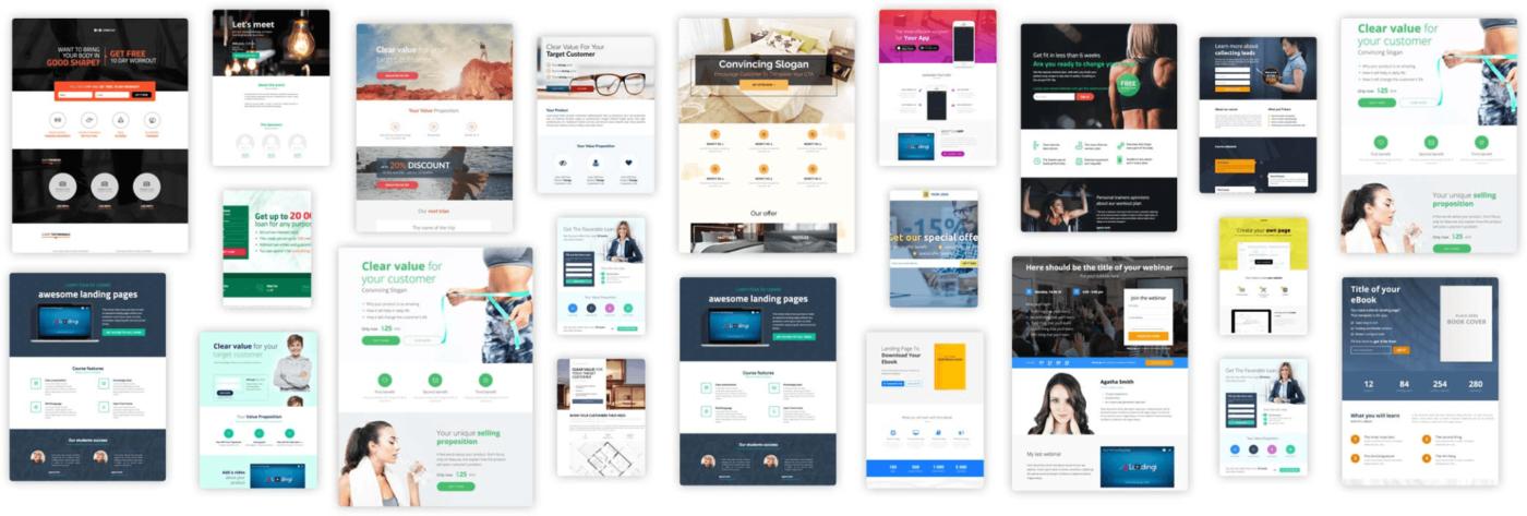 landing pages wordpress plugin templates